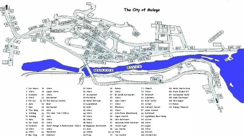 Mulege Town Map